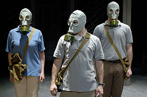 actors wearing gas masks wsdc