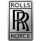rolls royce logo. rolls above two overlapping Rs with royce underneath on a silver background. consilium client.