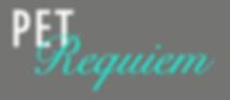 Pet Requiem Pet Euthanasia White and Teal Logo