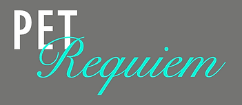 Pet Requiem Pet Euthanasia White and Teal Logo