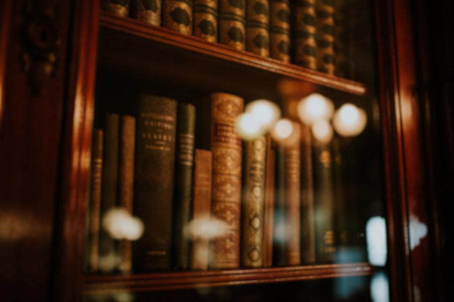 law books on shelf o'leary law office