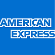 american express logo in blue and white
