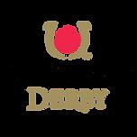 kentucky derby logo. a red rose in golden horse shoe above the words kentucky derby. consilium client.