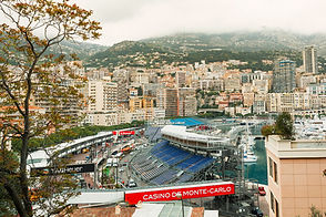 monte-carlo marina with hotels and apartments overlooking the water. consilium events.