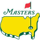 the US masters logo. The US in yellow with a red flag in a tee. consilium client.