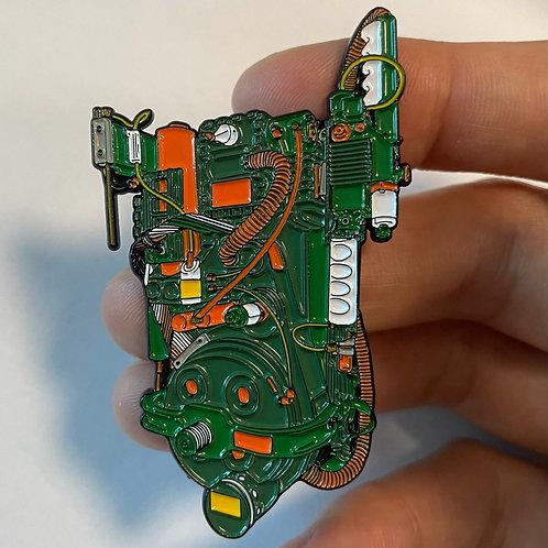 Deluxe Proton Pack Enamel Pin - St. Patrick/TMNT Variant