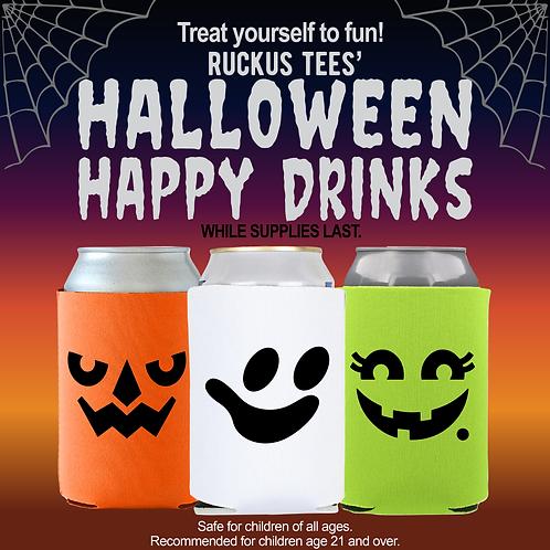 halloween happy drinks Koozie set