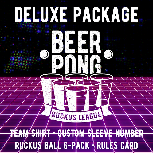 Beer Pong Ruckus League  Deluxe Package