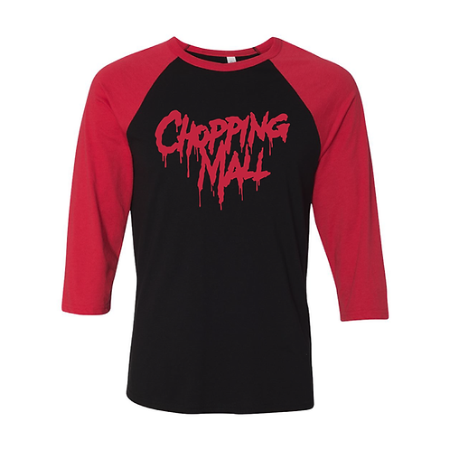 Chopping Mall Red Baseball Tee LIMITED EDITION