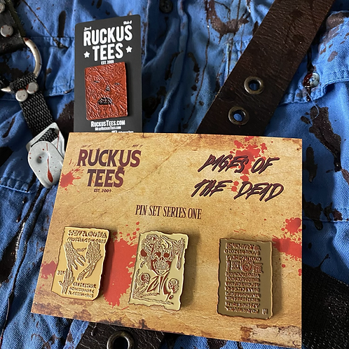 Pages of the Dead Enamel Pin Set Subscription