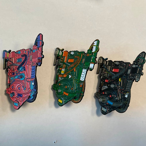 Deluxe Proton Pack Enamel Pins - Complete Variant Set