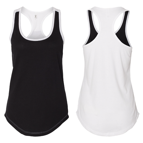 Black & White DuelColor Racerback Tank LIMITED EDITION