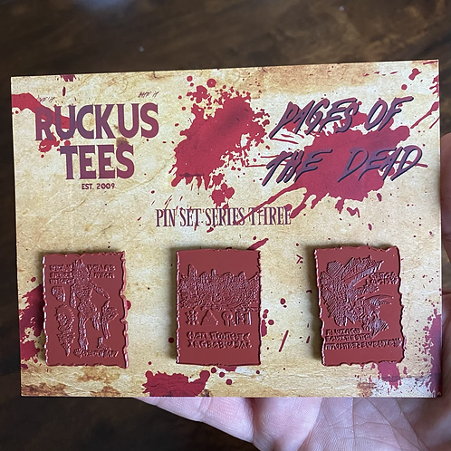 RAW Pages of the Dead Series 3 Enamel Pin Set - 1 of a Kind