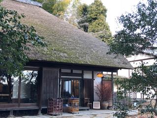 茅葺屋根のモダン住宅