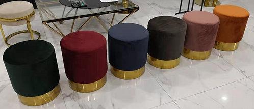Dara Velvet Ottoman