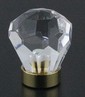 "1-1/8"" Modern Crystal knob"
