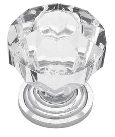 """1-1/16""""Diamond Cut Acrylic Chrome Knob"""