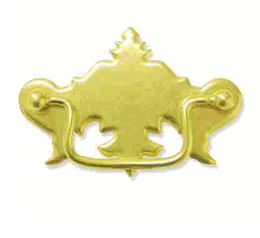 3-11/16 Stamped Brass Bail Pull