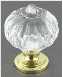 1-1/6 Pumpkin Acrylic Brass Knob