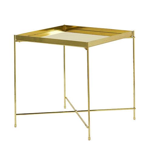 Sleek Metal Coffee Table