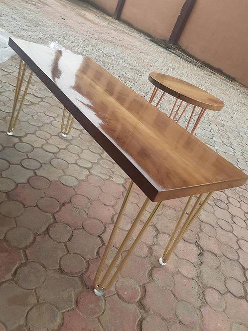 Rectangular Miso Mahogany Bench/Coffee Table with Hair pin Legs