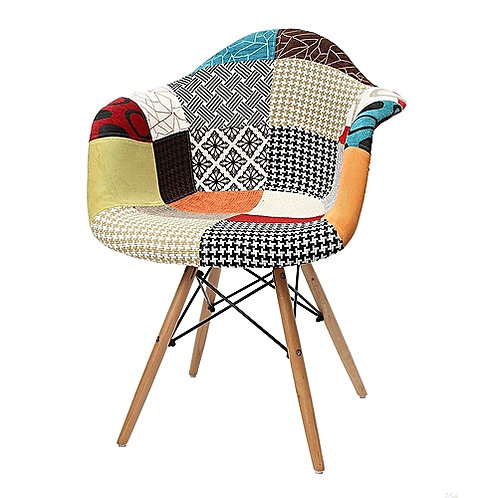Patchwork Padded Dining Chair