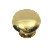 "1-1/4"" Mushroom Brass Plastic Round Knob"