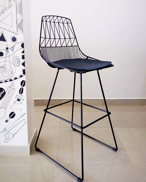 Wire Metal Bar Stool Hi