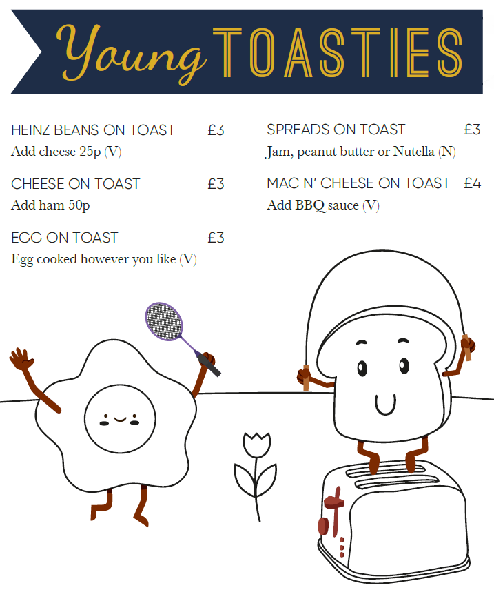 Toast Altrincham Children's Menu