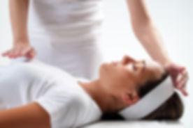 Close up of chiropractors hands doing re