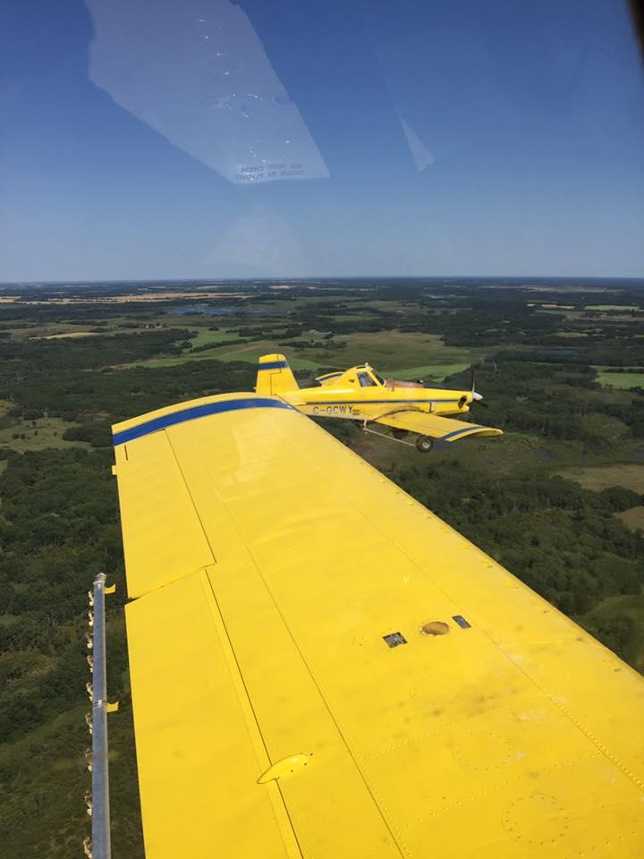 Formation flight back to base