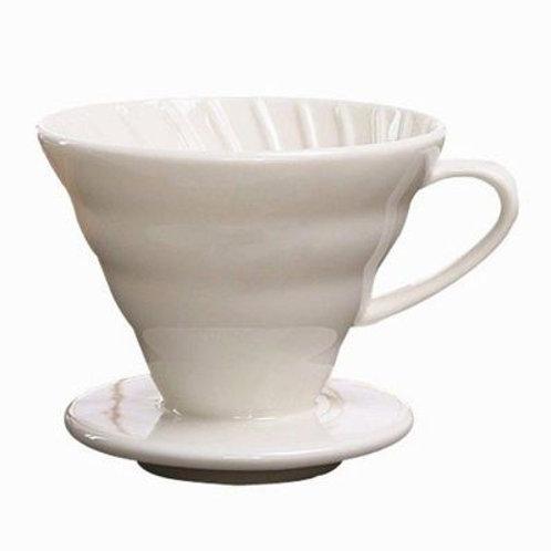 Caff Market Dripper V60 Beyaz Seramik