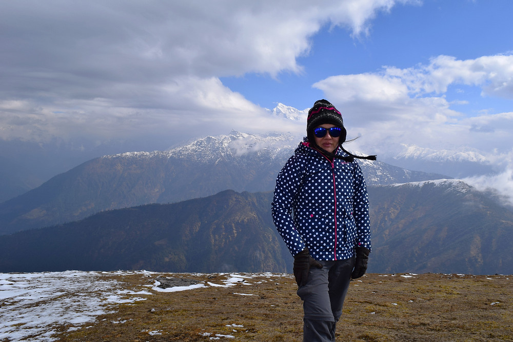 At Pikey Peak 4065m