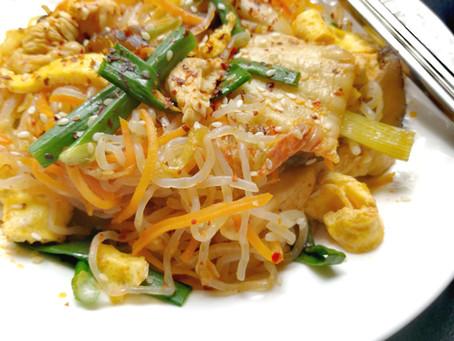 Keto Japchae - Korean stir-fry Konjac noodles