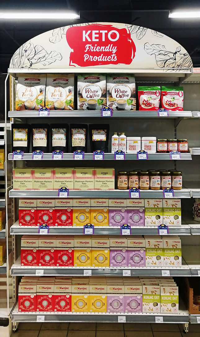 Yummy Keto Products at Malaysian Grocers