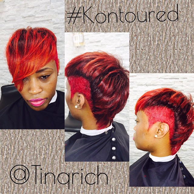 Instagram - #KreativeKontours #Beauty #TinqRich #HairStylist #Hair #Color #Cut #