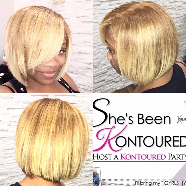 Instagram - Partial Braidless Sew In #blonde #bob #Hair #weaves #DC #DMV #cuts #