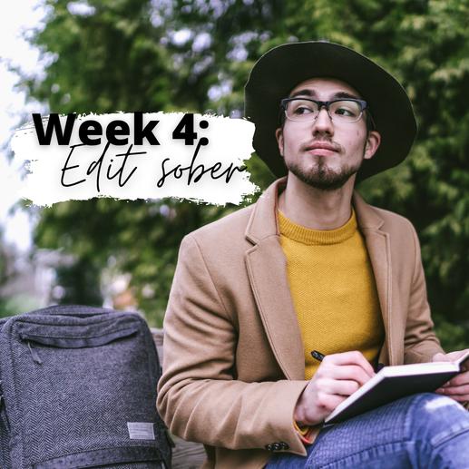 Week 4: Edit Sober
