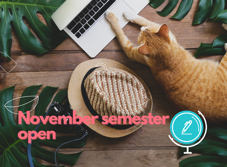 Announcing our Upcoming November Semester
