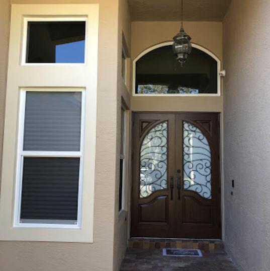 Single Hung Windows, Fixed Windows and Ornamental Aluminum Entry Door