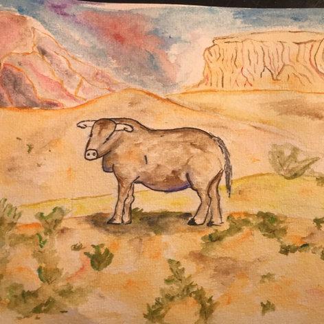 Landscape a cow.