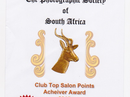TOP SALON POINTS AWARD: 2015