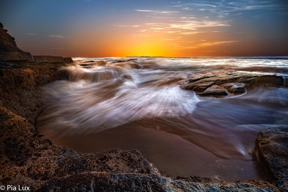 A colourful sunrise...