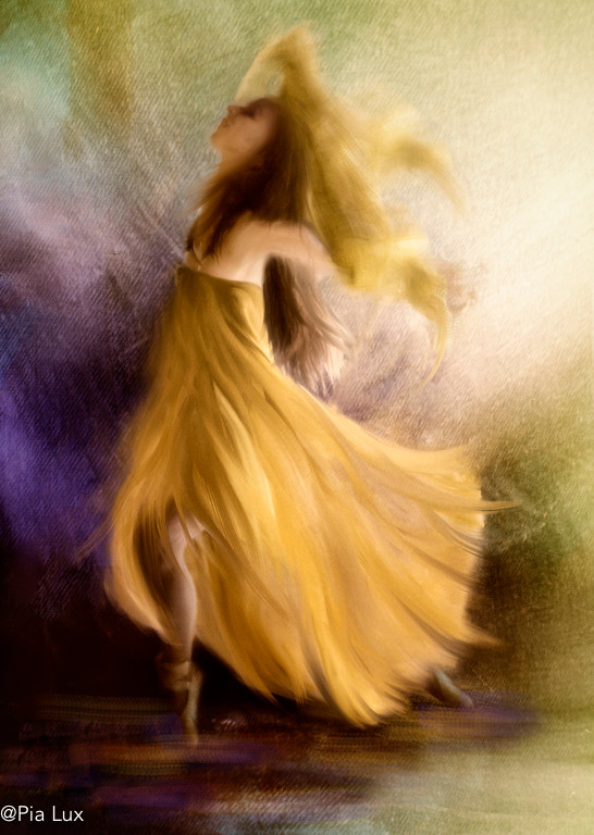 She'll dance with the yellow dress
