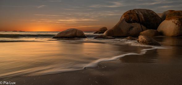 Sundown rocks...