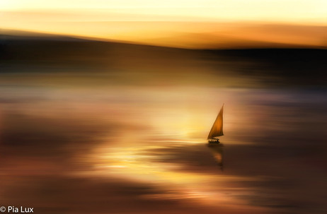And dawn will turn to golden glass....