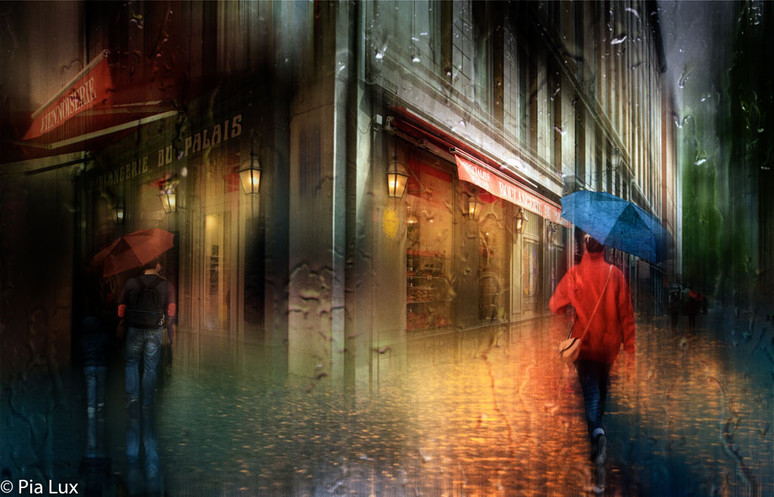 The rainy streets of Lyon...