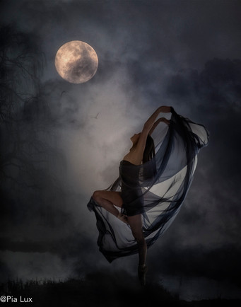 She danced to the moon
