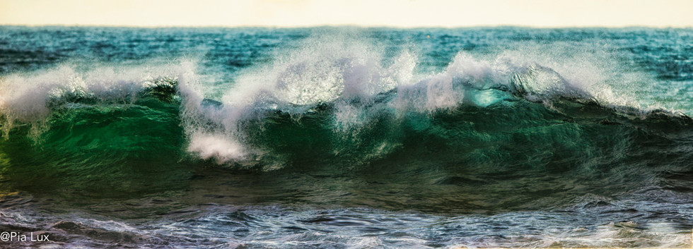 The mighty waves
