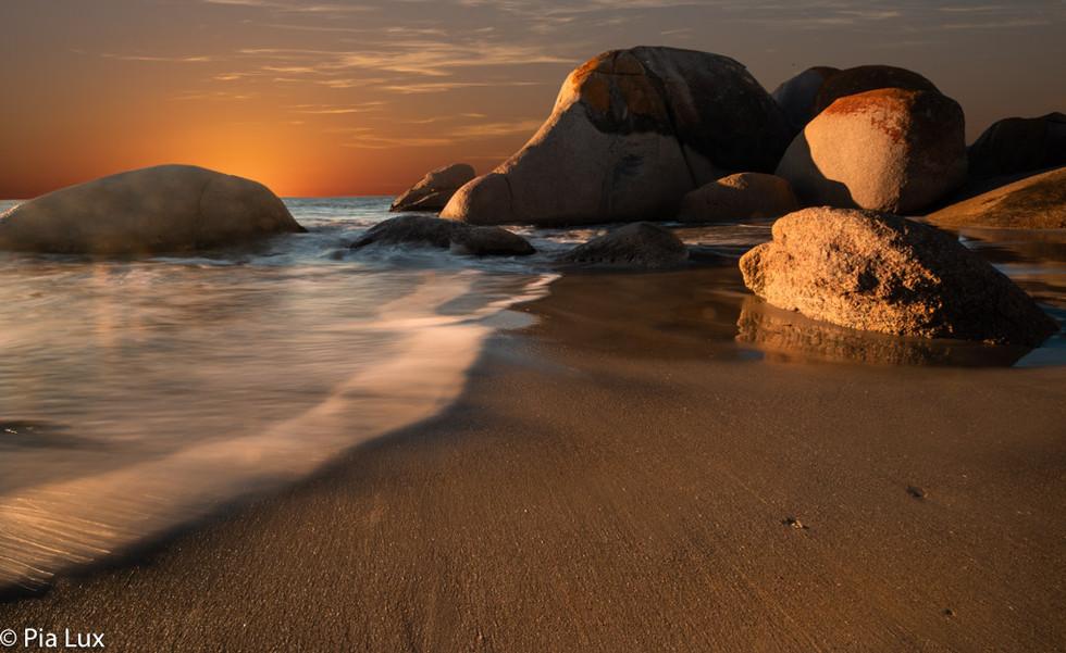 Sun on the rocks...